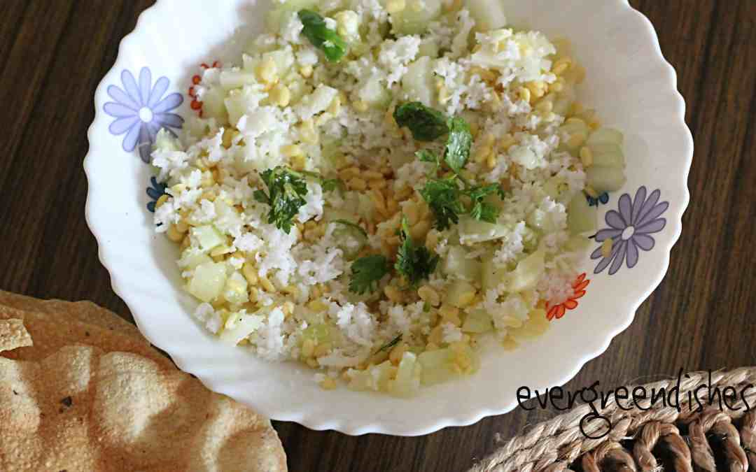 Moong dal salad koshambir recipe