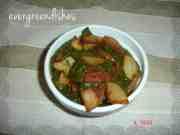 recipe image  Potatoes in spinach gravy Alu Palak