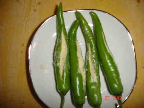 green chilly with filling