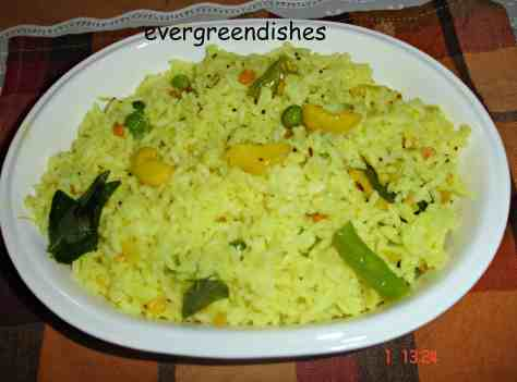 lemon rice with peas