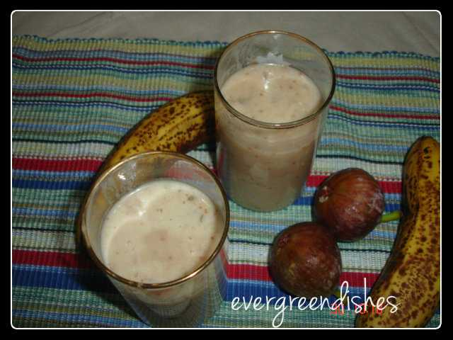 banana and fig milkshake