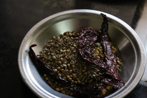 roasted spices  Bengali cuisine with Ghugni Chat IMG 0802 300x200