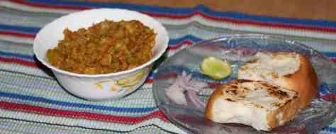 pav bhaji ready