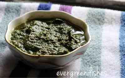 Spinach chutney