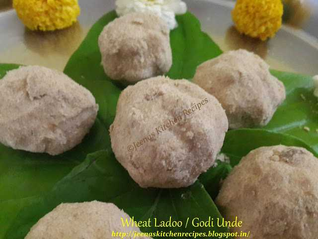 wheat ladoo  Ugadi special Wheat Ladoo 4