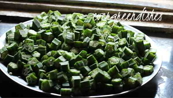 okra cut into half inch pieces