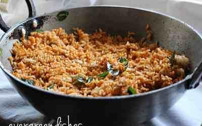 Kempu Chitranna rice dish from south kanara
