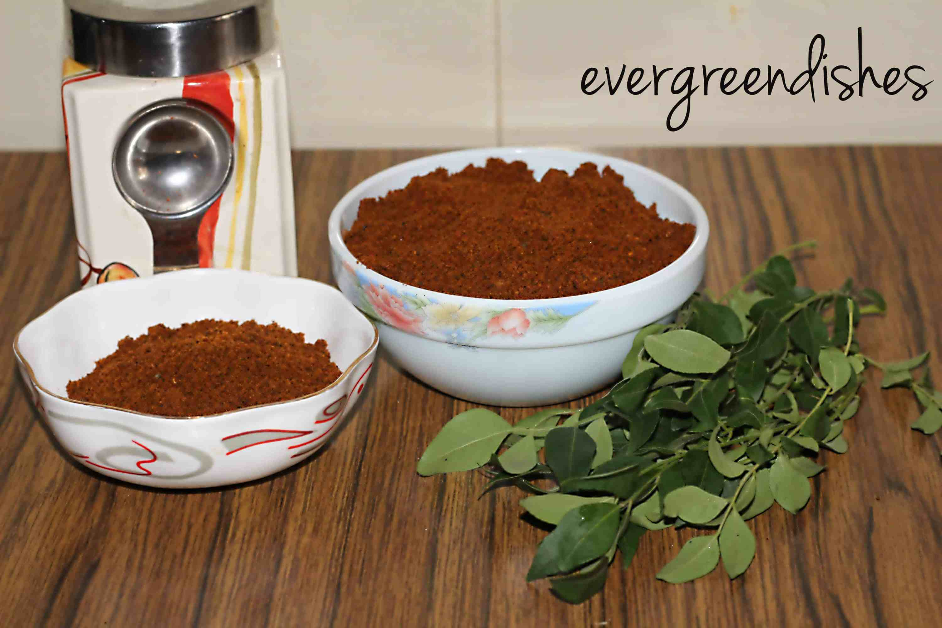 Curry leaf powder/karibevina chutney pudi