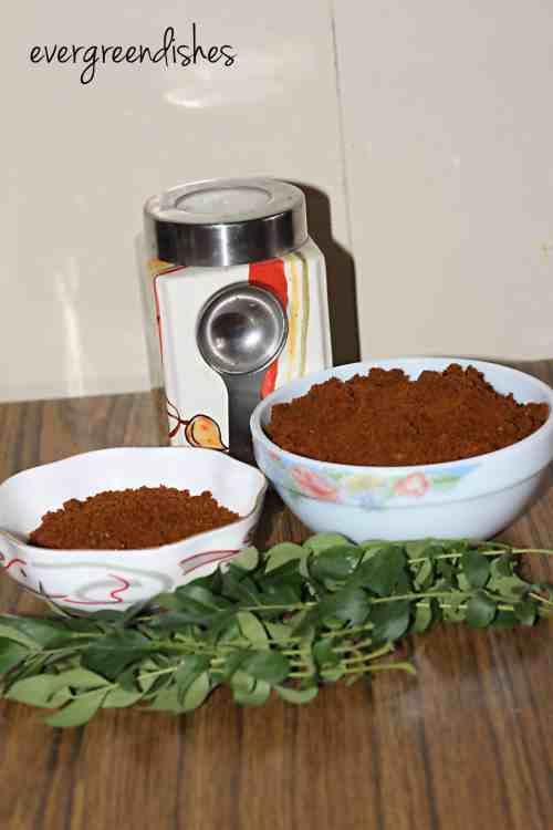 curry leaf powder curry leaf powder Curry leaf powder/karibevina chutney pudi curryleaf powder6 200x300