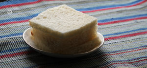 bread with trimmed edges