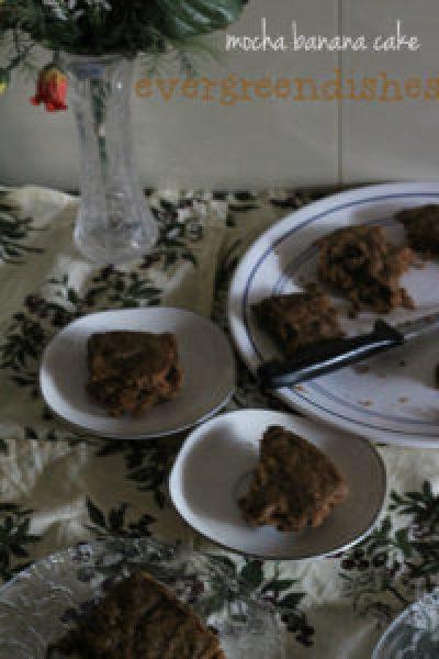 mocha banana cake