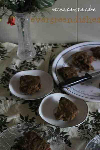 mocha banana cake  Mocha Banana Cake | healthy mocha cake mocha banana cake1 200x300