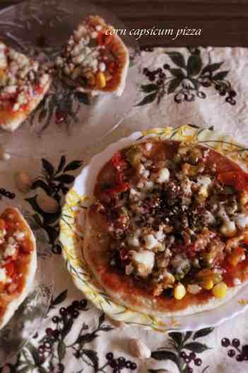 corn capsicum pizza  Corn Capsicum Pizza in steps (quick recipe) pizza 200x300