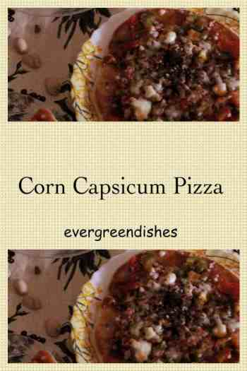 Corn Capsicum Pizza  Corn Capsicum Pizza in steps (quick recipe) pizza12 200x300