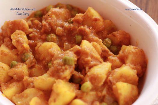 Aloo matar Potato pea curry