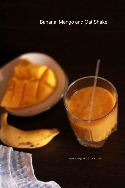 banana mango oat shake