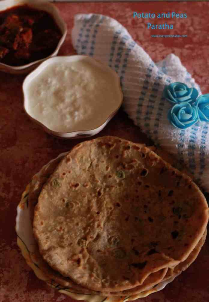 potato and pea paratha