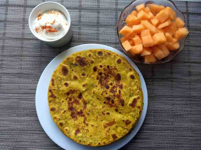 zucchini paratha