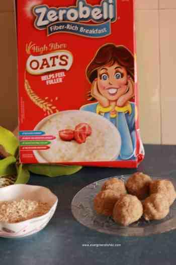 oats ladoo with zerobeli