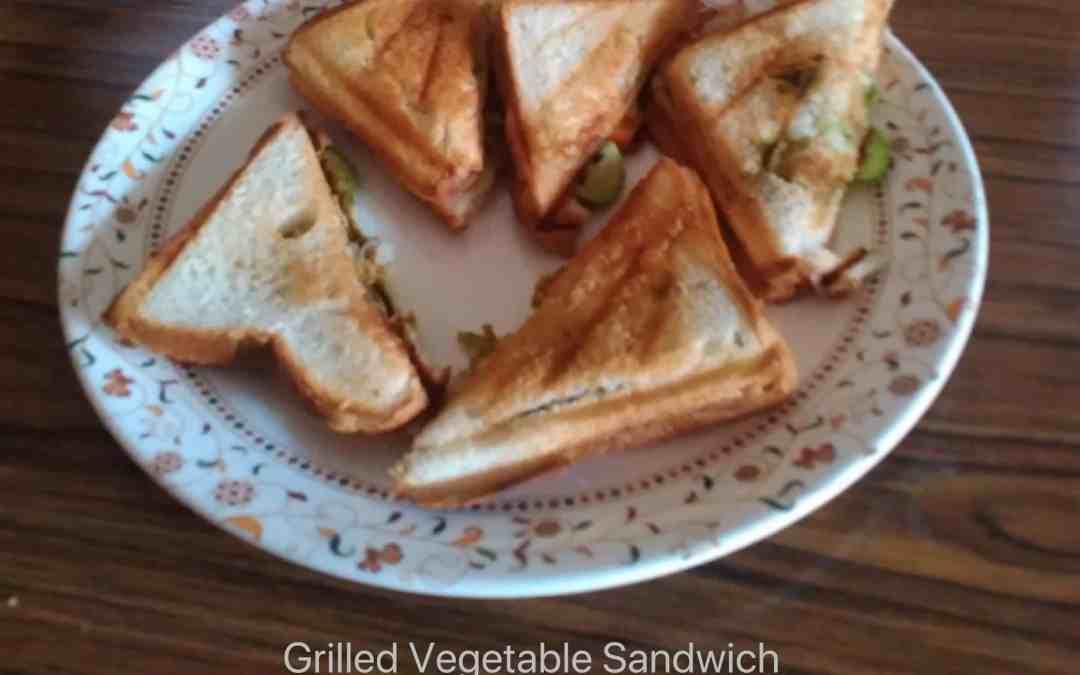 Grilled Vegetable Sandwich | easy breakfast recipe