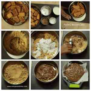 making of parle g biscuit cake