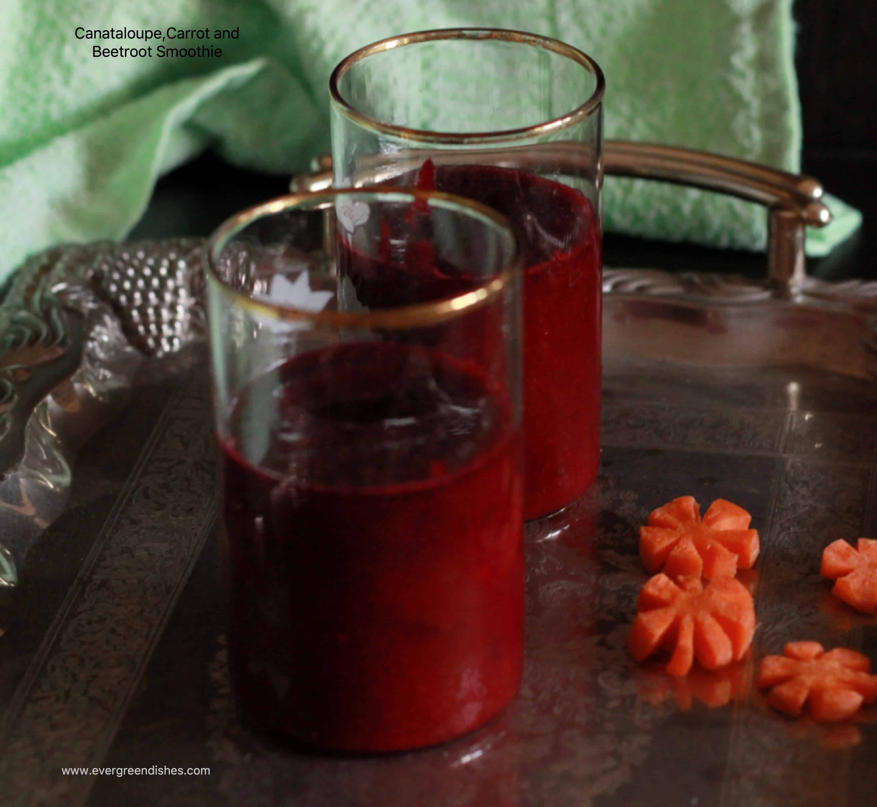 cantaloupe, carrot and beetroot smoothie