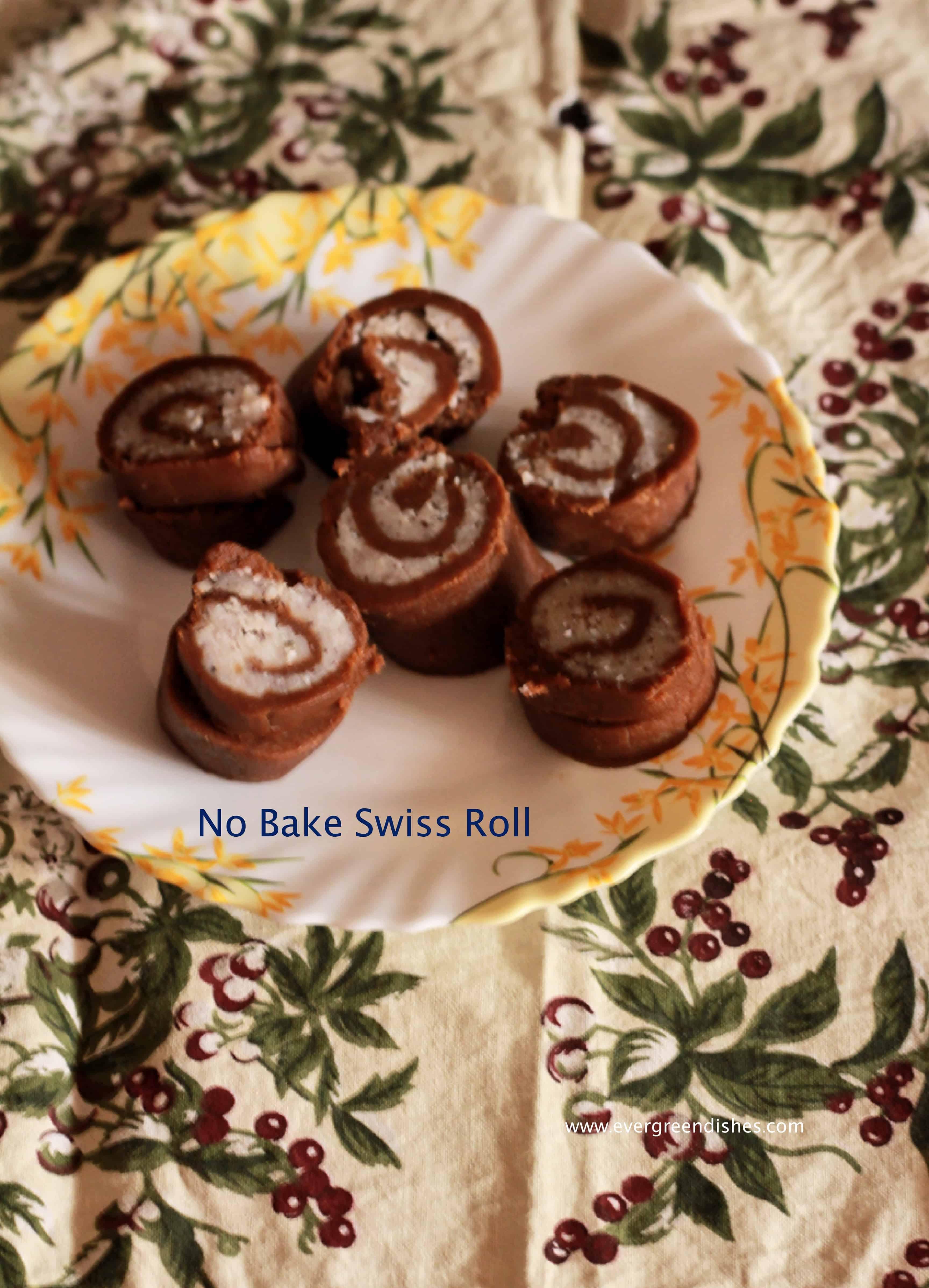 no bake swiss roll