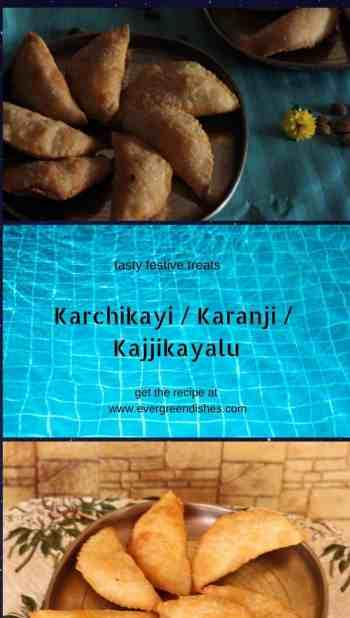 karchikayi /karanji / kajjikayalu