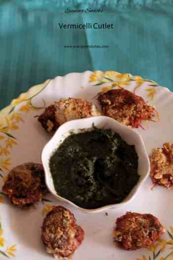 vegetable and vermicelli cutlet