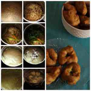 urad dal wada collage