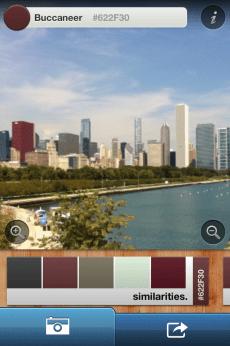snapshot of Chicago skyline, uploaded into iPhone app