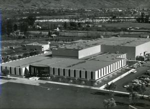 Mercury News archives -- An aerial photo of the San Jose Mercury News facility on Ridder Park Drive taken shortly after the plant opened in 1965. Note the lack of development around the building.