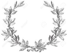 17265953-Laurel-wreath-Decorative-element-at-engraving-style--Stock-Vector