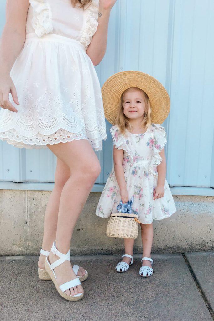 White Eyelet Ruffle Dress 1