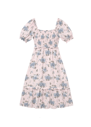gal meets glam pink floral puff sleeve dress brookie isabel