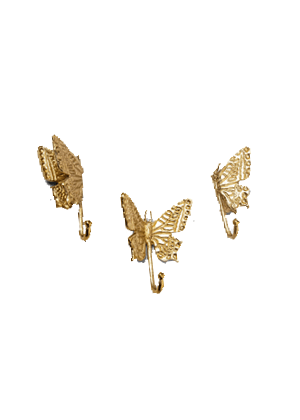 gold butterfly wall hooks home target