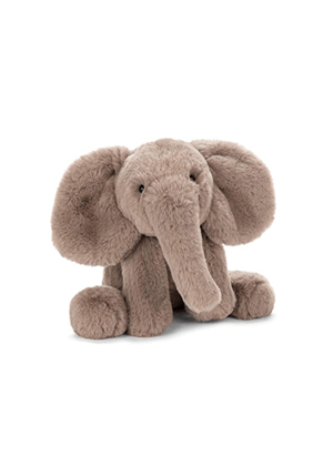 grey elephant jellycat plush toy ayla