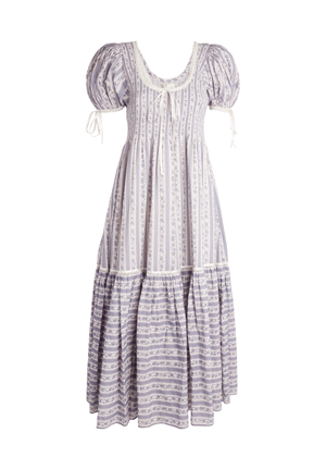 loveshackfancy judith purple stripe floral puff sleeve maxi dress brookie