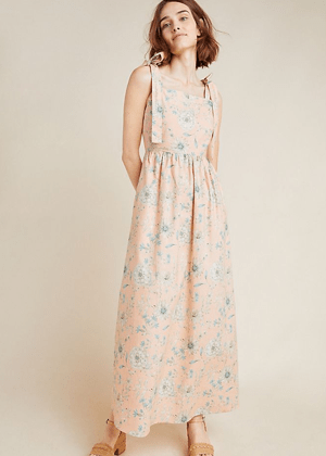makenna gal meets glam brookie peach floral linen maxi dress