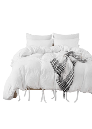 white bed cover king twin amazon