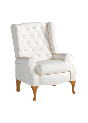 wingback recliner armchair ivory tufted home decor amazon