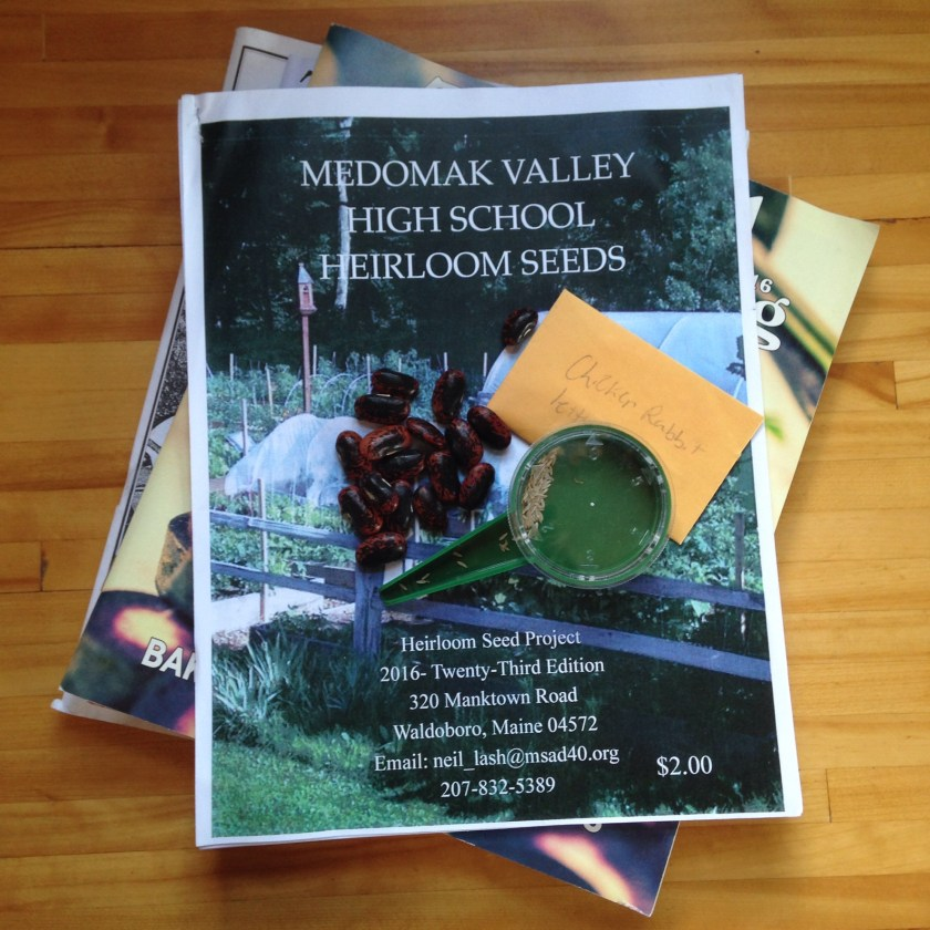 The yearly printed catalog of the Medomak Valley High School Heirloom Seed Project.