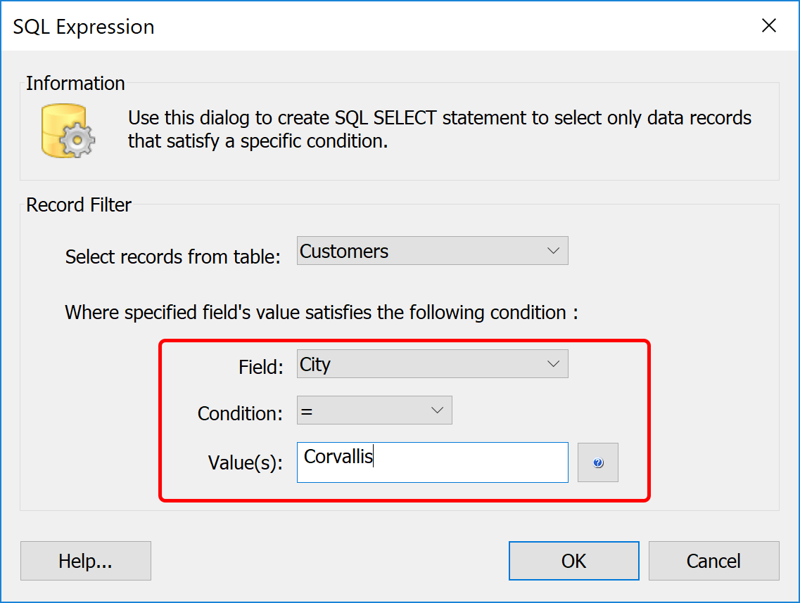 Selecting Mail Merge Data Records With Sql Select
