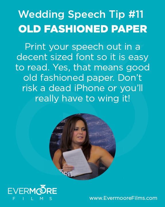 Old Fashioned Paper | Wedding Speech Tip #11 | Evermoore Films