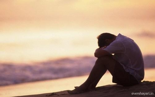 Sad boy crying in love