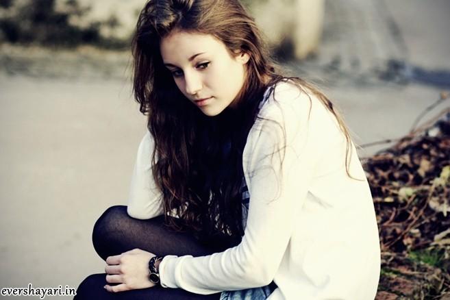 Sad girl love shayari image