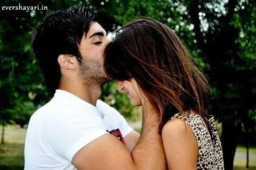 Boy kiss on girl forehead