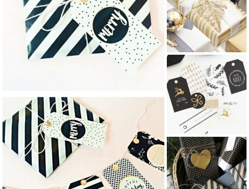 Happy Weekend + 5 Things I Love | Christmas Giftwrap | Black and Gold