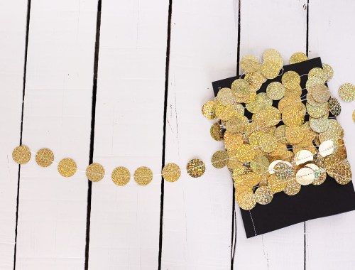 DIY Gold Holographic Party Garland