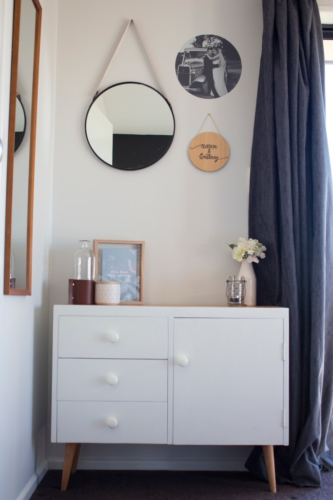 Need some master bedroom inspo? Take a look at our fresh, new, scandi bedroom with a black feature wall!